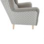 Kép 5/20 - BELEK füles fotel - szövet,  capuccino/minta