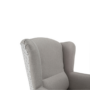 Kép 16/20 - BELEK füles fotel - szövet,  capuccino/minta