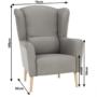 Kép 14/20 - BELEK füles fotel - szövet,  capuccino/minta