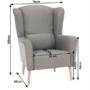 Kép 12/20 - BELEK füles fotel - szövet,  capuccino/minta
