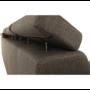 Kép 20/26 - SEGORIA Ülőgarnitúra - szövet szürke-barna Taupe,  balos [LUX]