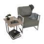 Kép 8/20 - KUMON Dizájnos fotel,  ezüst-szürke/ezüst