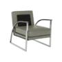 Kép 11/20 - KUMON Dizájnos fotel,  ezüst-szürke/ezüst