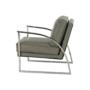 Kép 12/20 - KUMON Dizájnos fotel,  ezüst-szürke/ezüst