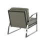 Kép 13/20 - KUMON Dizájnos fotel,  ezüst-szürke/ezüst