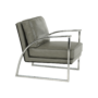 Kép 14/20 - KUMON Dizájnos fotel,  ezüst-szürke/ezüst