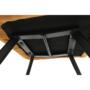 Kép 6/18 - ZERON Fotel,  szövet bársony mustár/fekete