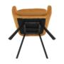 Kép 7/18 - ZERON Fotel,  szövet bársony mustár/fekete