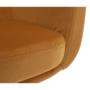 Kép 9/18 - ZERON Fotel,  szövet bársony mustár/fekete