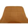 Kép 10/18 - ZERON Fotel,  szövet bársony mustár/fekete