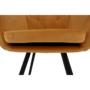 Kép 12/18 - ZERON Fotel,  szövet bársony mustár/fekete