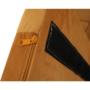 Kép 13/18 - ZERON Fotel,  szövet bársony mustár/fekete