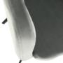 Kép 11/16 - ZERON Fotel,  szövet bársony világosszürke/fekete