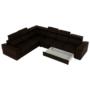 Kép 14/25 - SEGORIA Ülőgarnitúra - szövet csoki,  jobbos [LUX]