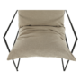 Kép 7/24 - DEKER Modern fotel,  bézs/fekete