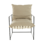Kép 12/24 - DEKER Modern fotel,  bézs/fekete