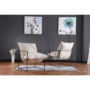 Kép 14/24 - DEKER Modern fotel,  bézs/fekete
