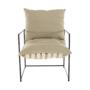 Kép 16/24 - DEKER Modern fotel,  bézs/fekete
