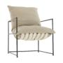 Kép 17/24 - DEKER Modern fotel,  bézs/fekete