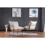Kép 18/24 - DEKER Modern fotel,  bézs/fekete