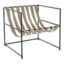 Kép 21/24 - DEKER Modern fotel,  bézs/fekete