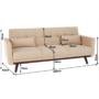 Kép 3/51 - ARKADIA kinyitható kanapé,  bézs