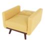 Kép 14/19 - ARKADIA kinyitható fotel,  mustár