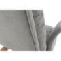 Kép 4/25 - ZANDER Fotel lábtartóval,  világosszürke/természetes