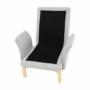 Kép 24/25 - ZANDER Fotel lábtartóval,  világosszürke/természetes