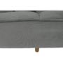 Kép 9/22 - KAPRERA Kinyitható kanapé,  világosszürke bársony/bükk
