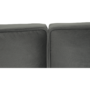 Kép 11/22 - KAPRERA Kinyitható kanapé,  világosszürke bársony/bükk