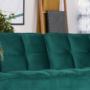 Kép 10/21 - KAPRERA Kinyitható kanapé,  smaragd bársony/bükk