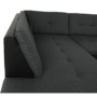 Kép 3/17 - ATOSO Ülőgarnitúra - műbőr fekete/szövet sötétszürke,  balos [ROH U]