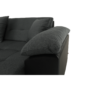 Kép 10/17 - ATOSO Ülőgarnitúra - műbőr fekete/szövet sötétszürke,  balos [ROH U]