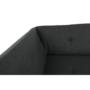 Kép 12/17 - ATOSO Ülőgarnitúra - műbőr fekete/szövet sötétszürke,  balos [ROH U]
