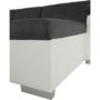 Kép 3/20 - ATOSO Ülőgarnitúra - műbőr fehér/szövet sötétszürke,  balos [ROH U]