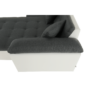 Kép 8/20 - ATOSO Ülőgarnitúra - műbőr fehér/szövet sötétszürke,  balos [ROH U]