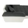 Kép 9/20 - ATOSO Ülőgarnitúra - műbőr fehér/szövet sötétszürke,  jobbos [ROH U]