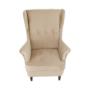 Kép 9/13 - RUFINO Füles fotel,  bézs-arany/dió