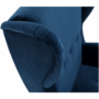 Kép 8/14 - RUFINO Füles fotel,  kék/dió
