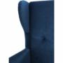 Kép 11/14 - RUFINO Füles fotel,  kék/dió