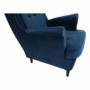 Kép 12/14 - RUFINO Füles fotel,  kék/dió