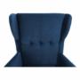 Kép 13/14 - RUFINO Füles fotel,  kék/dió