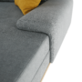 Kép 4/27 - PANOS Ülőgarnitúra - szürke/mustár,  jobbos