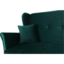 Kép 2/22 - COLUMBUS Kinyitható kanapé,  zöld szövet
