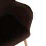 Kép 8/16 - Fotel ülőkével bézs anyag/tölgy LAGER