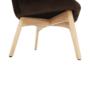 Kép 10/16 - Fotel ülőkével bézs anyag/tölgy LAGER