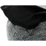Kép 7/23 - Hanord Ülő tasak-pufó,,  fekete / fehér
