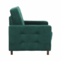 Kép 14/27 - MEDLIN Fotel,  smaragd / dió
