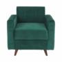 Kép 19/27 - MEDLIN Fotel,  smaragd / dió